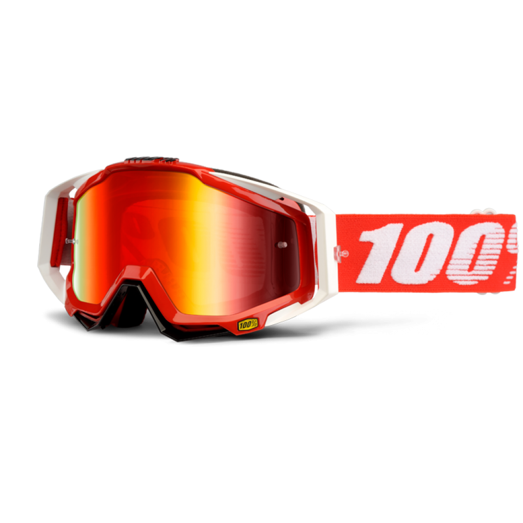 100% Racecraft Red Fire Mirror Red Lens