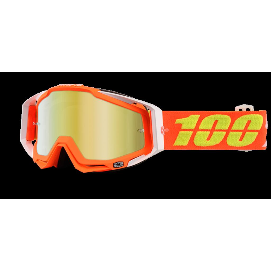 Maschera 100% Racecraft Razmataz Mirror Gold Lens