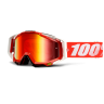 Maschera 100% Racecraft Red Fire Mirror Red Lens